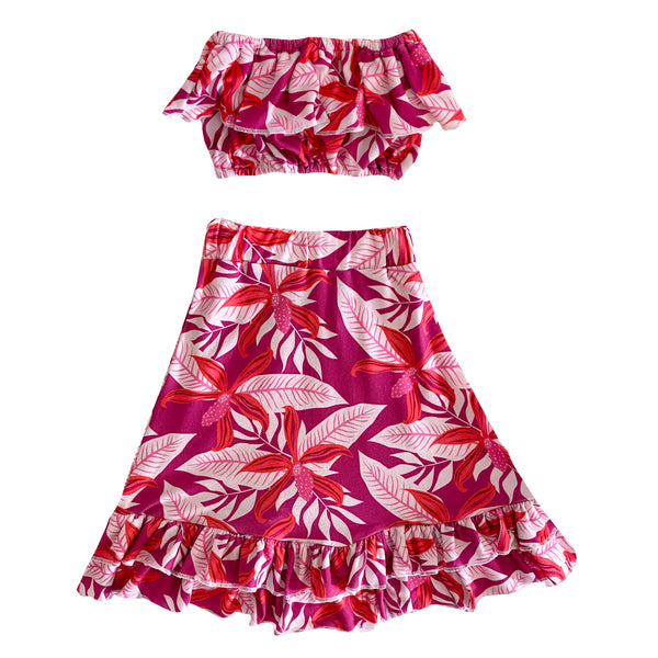 Honi Orchid Skirt set (12/18M to 8 Girls)