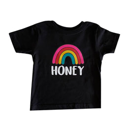 Rainbow Honey Tee (Black) (6/12M to 5/6T)