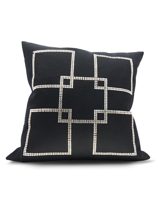 Square Key Throw Pillow - Laris by Clara Duna