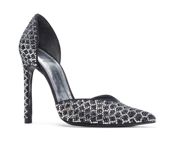 Swarovski Crystal Embellished Python Pumps