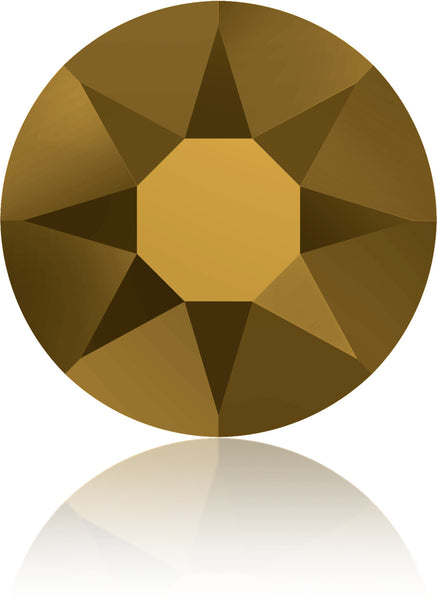 Dorado Gold Swarovski Hot Fix Crystals - Creative Crystal