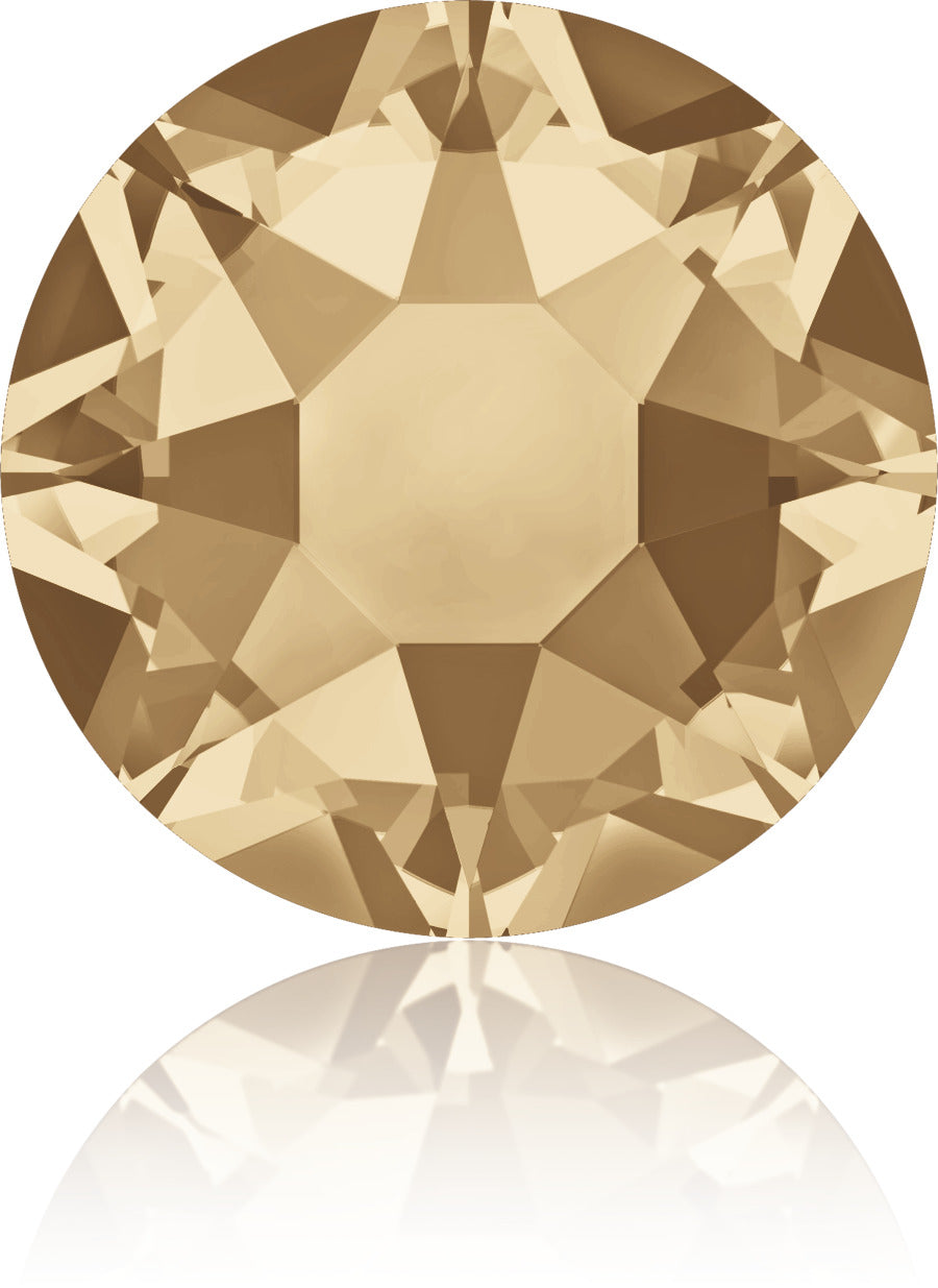 Golden Shadow Swarovski Hot Fix Crystals - Creative Crystal