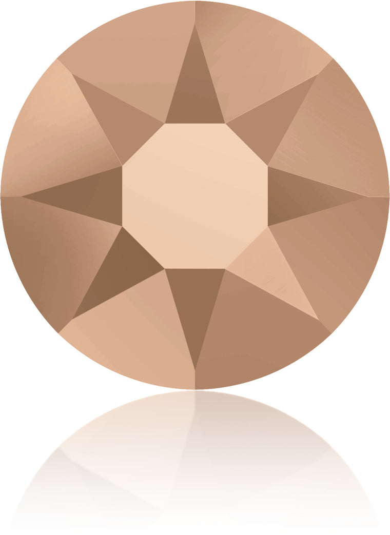 Rose Gold Swarovski Hot Fix Crystals