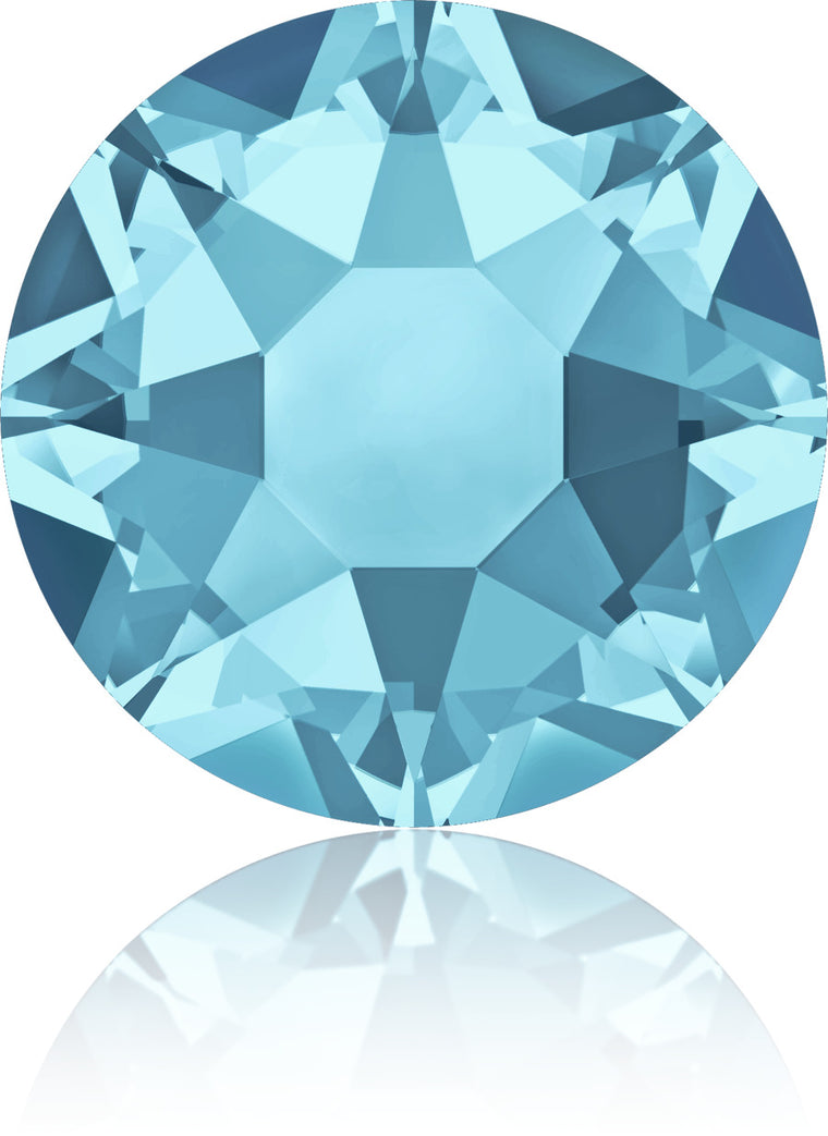 Aquamarine Swarovski Hot Fix Crystals