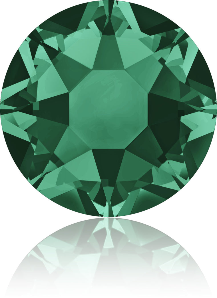 Emerald Swarovski Hot Fix Crystals