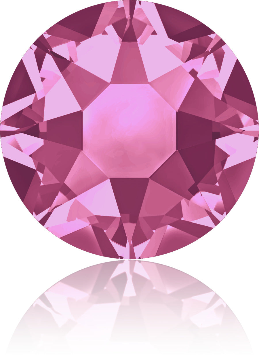 Rose Swarovski Hot Fix Crystals - Creative Crystal