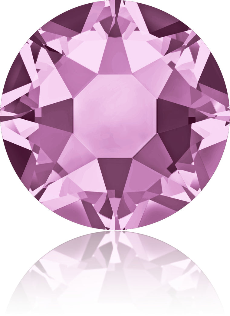 Light Amethyst Swarovski Hot Fix Crystals