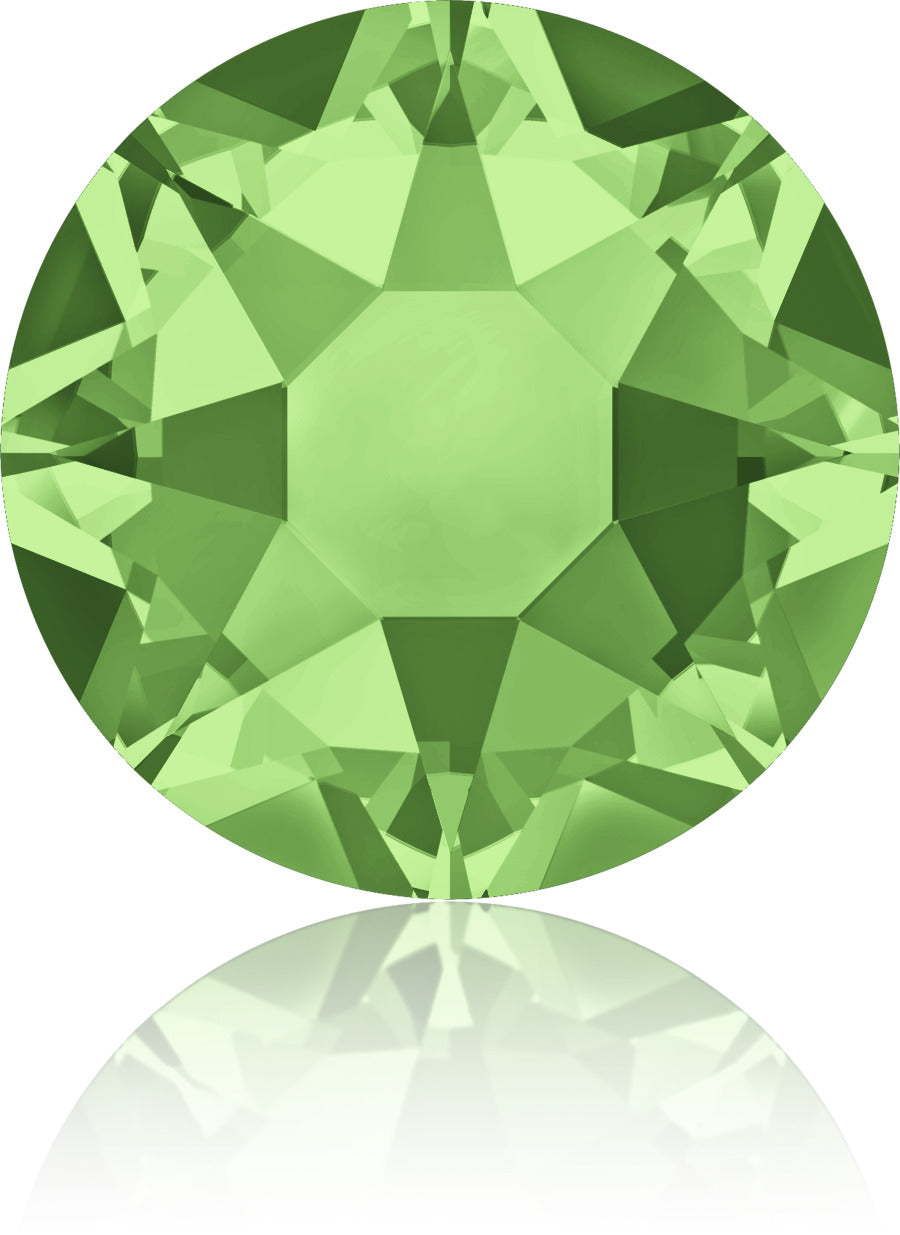Peridot Green Swarovski Hot Fix Crystals - Creative Crystal
