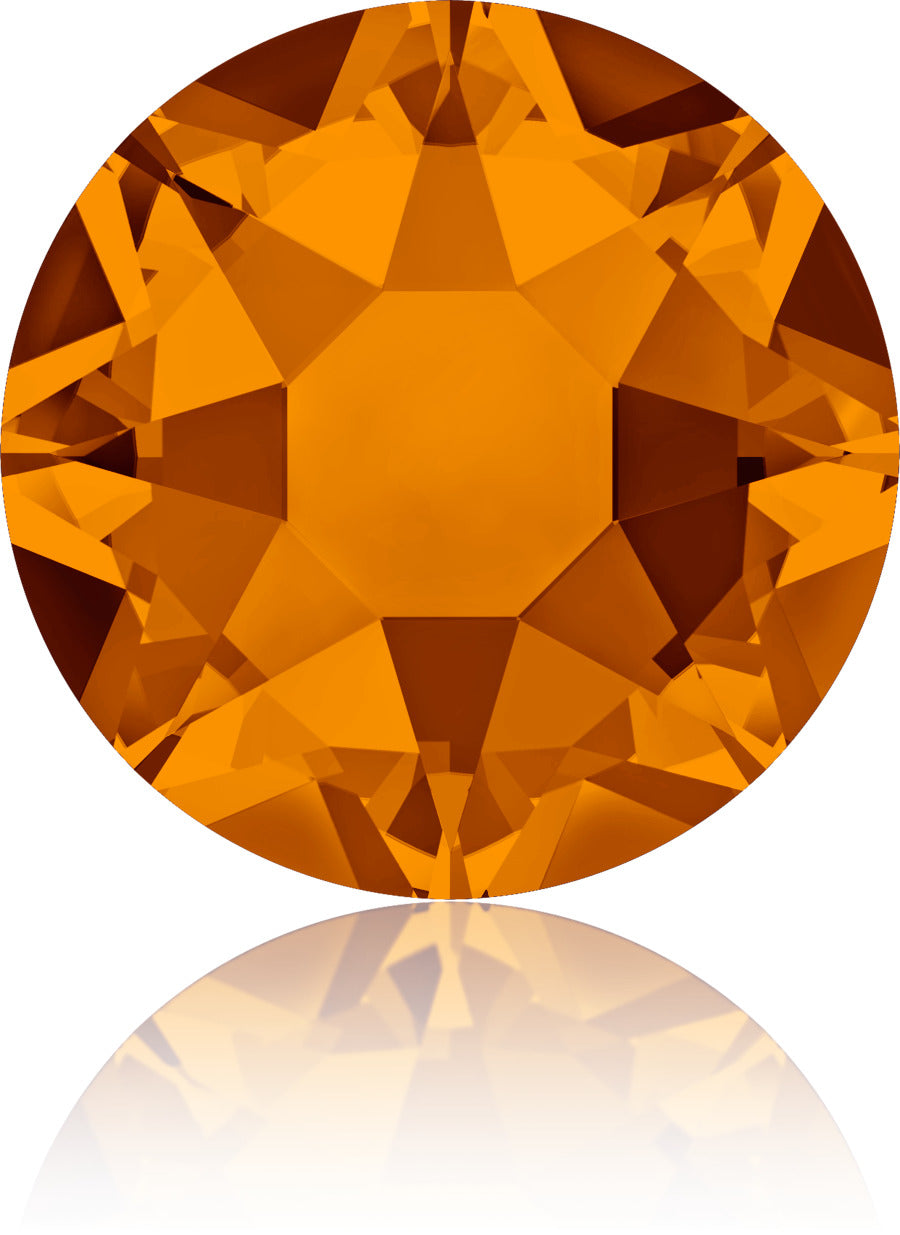 Tangerine Swarovski Hot Fix Crystals - Creative Crystal