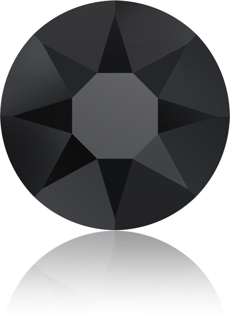 Jet Black Swarovski Hot Fix Crystals