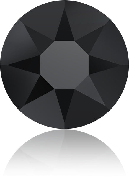 Jet Black Swarovski Hot Fix Crystals - Creative Crystal