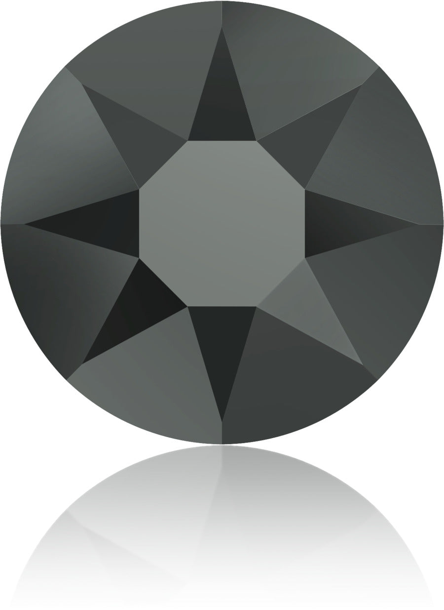 Jet Hematite Swarovski Hot Fix Crystals - Creative Crystal