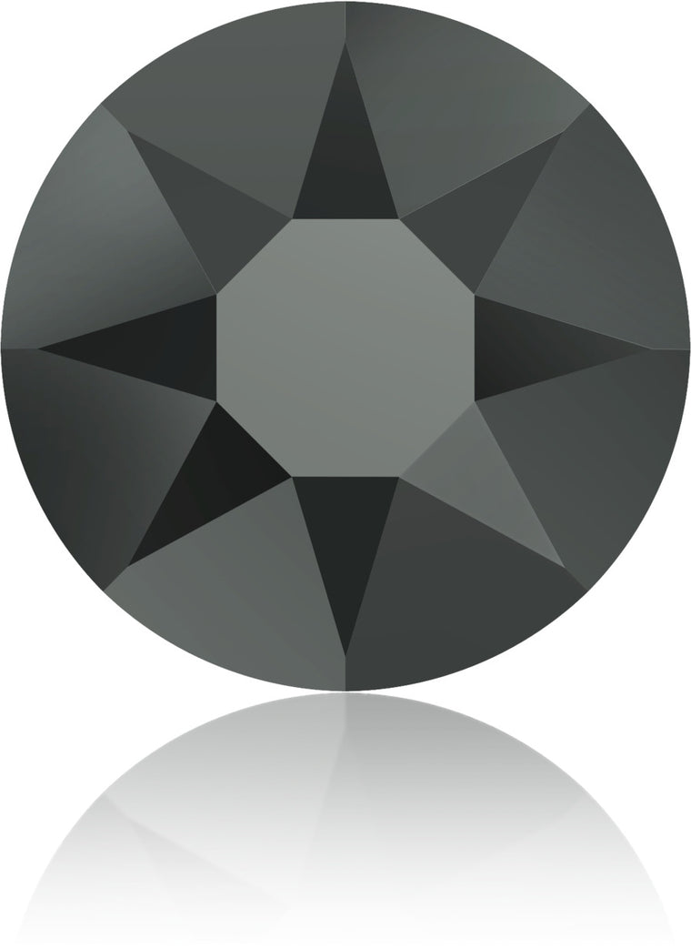 Jet Hematite Swarovski Hot Fix Crystals