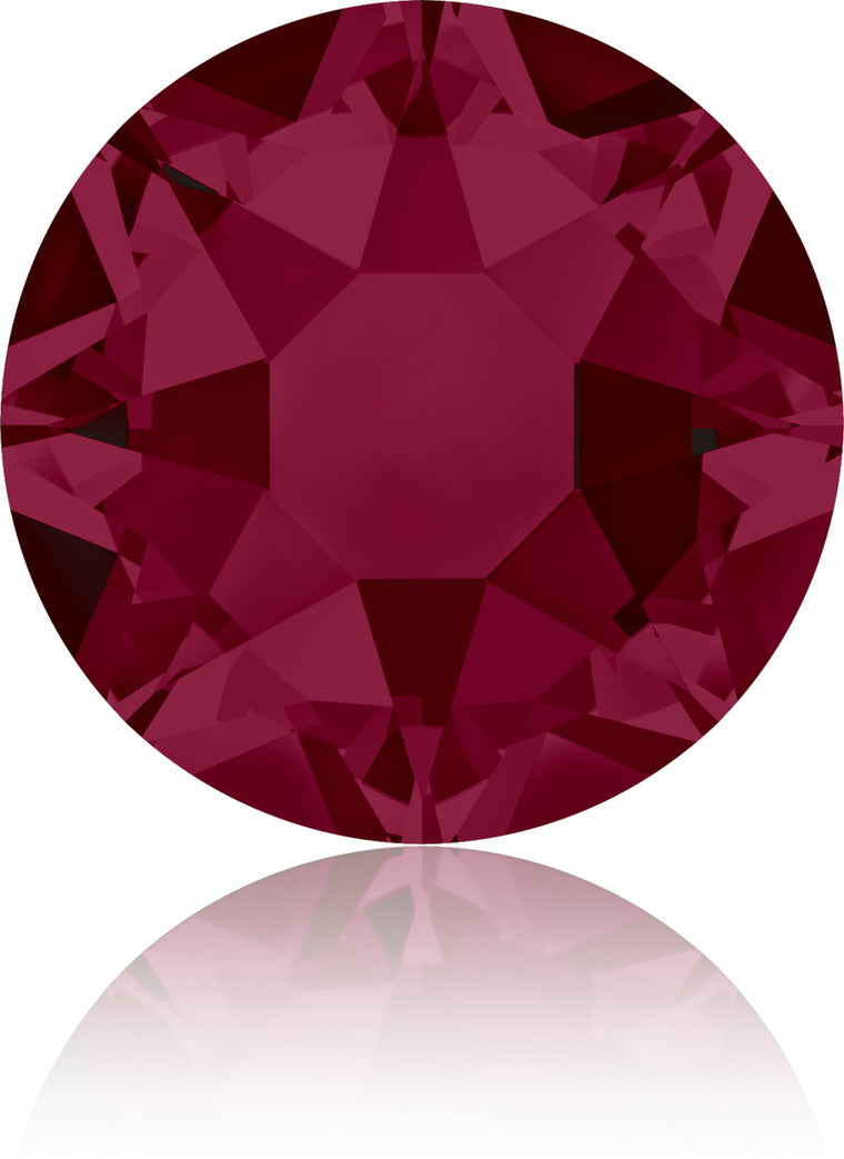 Ruby Swarovski Hot Fix Crystals