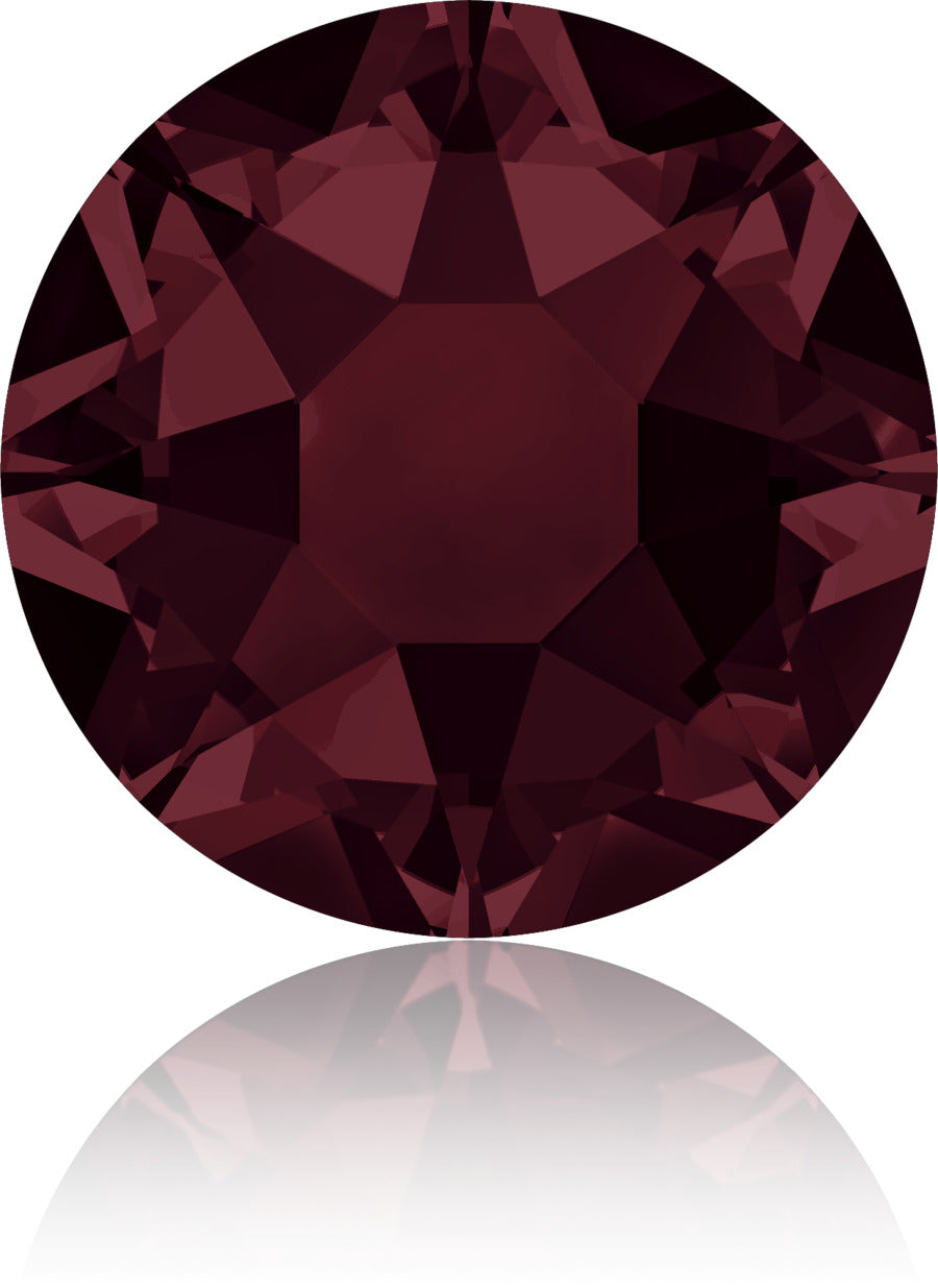 Burgundy Swarovski Hot Fix Crystals - Creative Crystal