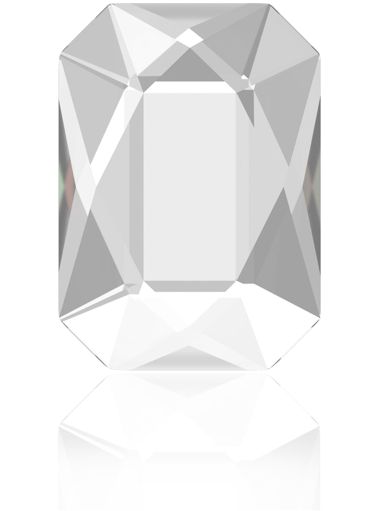 Clear Diamond Emerald Cut Swarovski Hot Fix Crystal