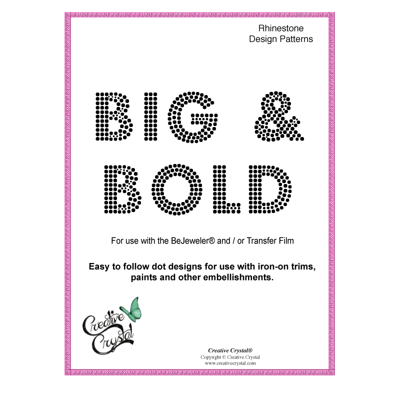 BOLD Alphabet Pattern Booklet - Creative Crystal