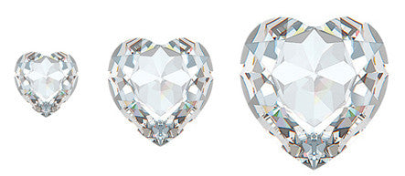 Clear Diamond Heart Swarovski Hot Fix Crystals
