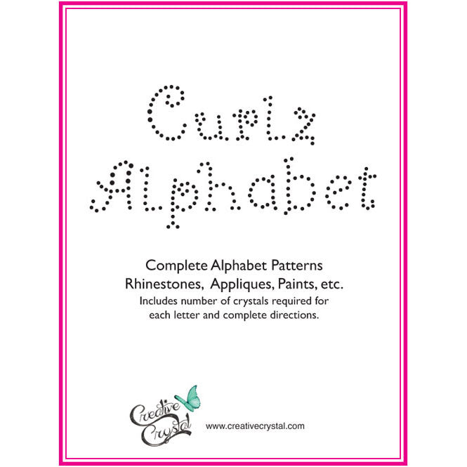 Curlz Alphabet Pattern Booklet - Creative Crystal