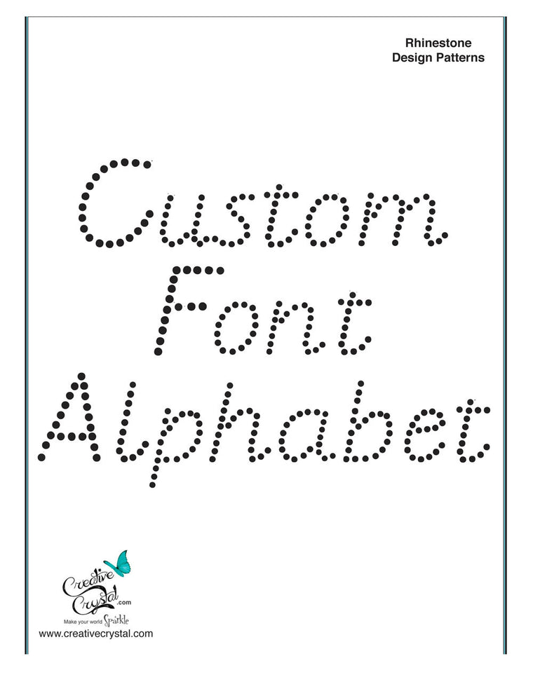 Custom Alphabet Pattern Booklet
