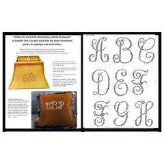 Evening Script Monogram Pattern Booklet