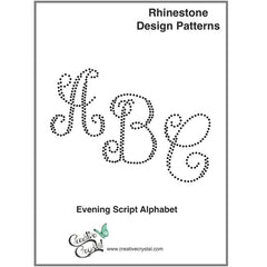 Evening Script Monogram Pattern Booklet - Creative Crystal