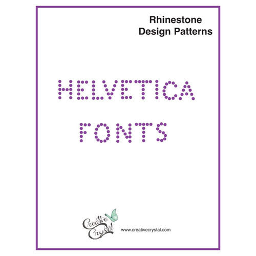 Helvetica Alphabet Pattern Booklet - Creative Crystal