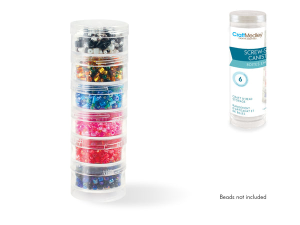 6 Screw-Stack Canisters - Creative Crystal