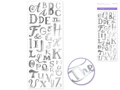Capital Letter Stickers - Creative Crystal