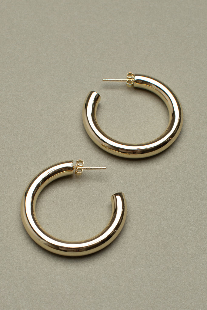 "1.5"" PERFECT HOOPS (14K GOLD)"