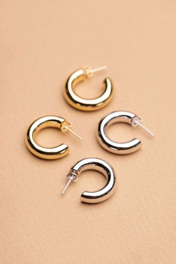 ".75"" PERFECT HOOPS (14K GOLD)"