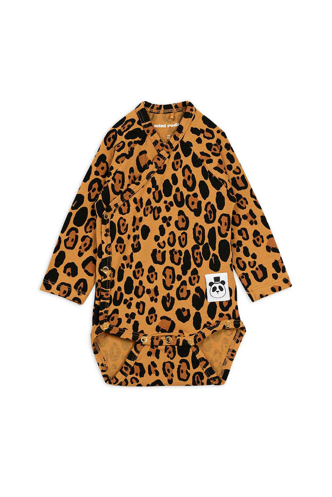LEOPARD LONG SLEEVE WRAP BODY