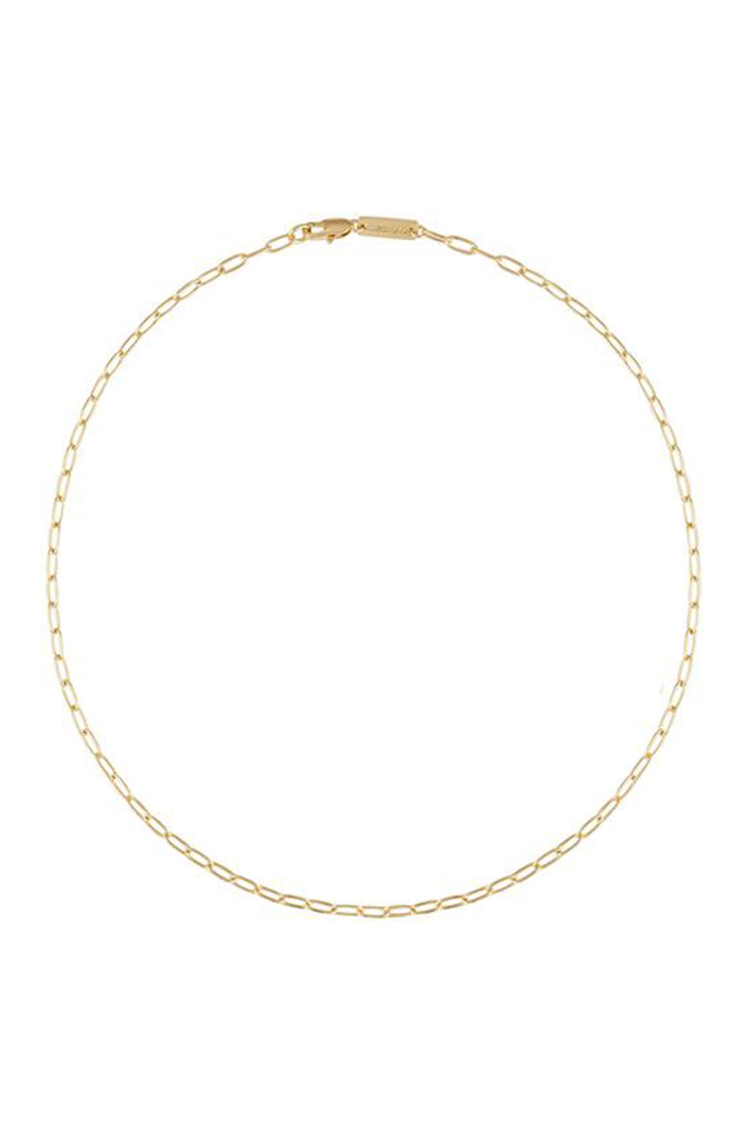 PETITE OVAL LINK NECKLACE (14K GOLD)