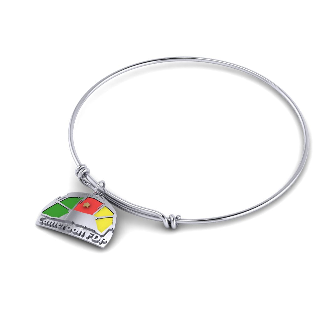 Cameroon Collection- Bangle Charm Bracelet