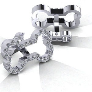 Diamond Bone Cufflinks
