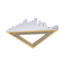 Load image into Gallery viewer, The  Pittsburgh Pin with Diamonds