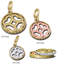 Load image into Gallery viewer, Floret with Paw Print Circle Pendant