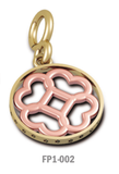 Floret with Paw Print Circle Pendant