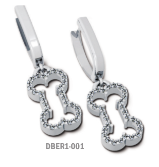 Diamond Bone Drop Earrings
