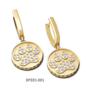 Pavé Paw Drop Earrings