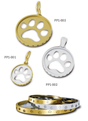 Cut Out Paw Print Pendant