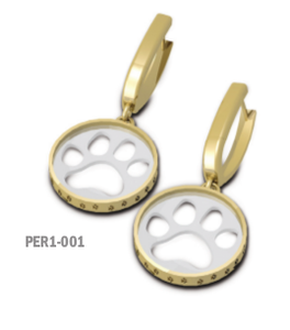 Cut Out Paw Print Drop Earrings