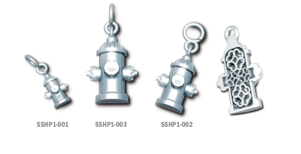 Sterling Silver Hydrant Pendant