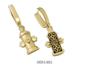 Hydrant Drop Earrings