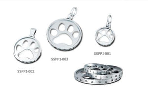 Sterling Silver Cut Out Paw Print Pendant