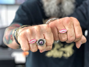 The PinkStache Ring-Larger Sizes