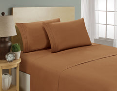 Smarssen Plush Microfiber Bed Sheet Set
