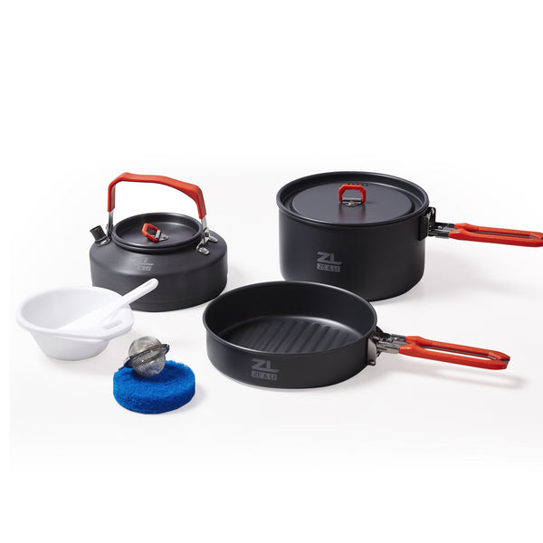9-Piece Smarssen Aluminum Camping Cooking Set