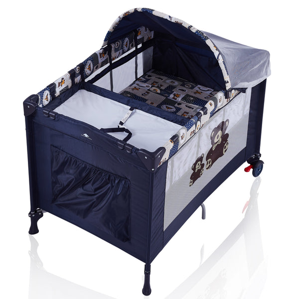 Portable Baby Playard with Changing Station and Bassinet