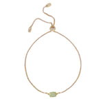 Aventurine & Gold Adjustable Chain Bracelet